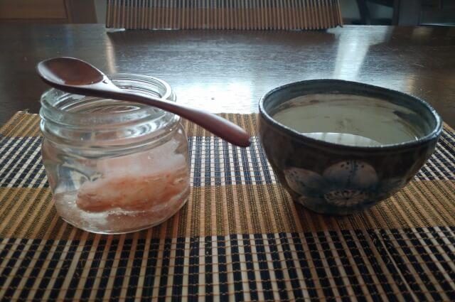 白湯と塩水