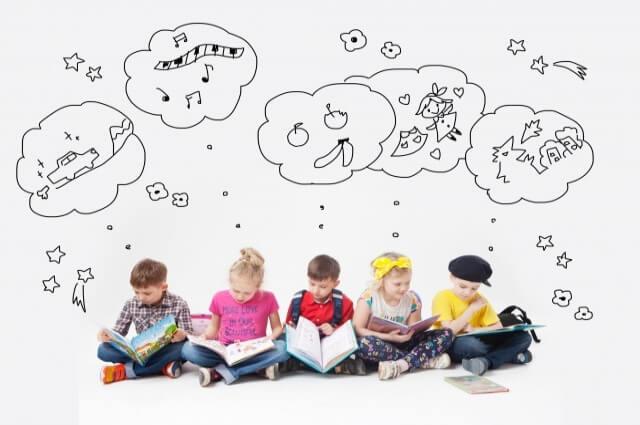 子供が本を読んでる頭の中