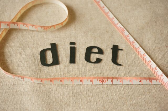 dietの文字とメジャー